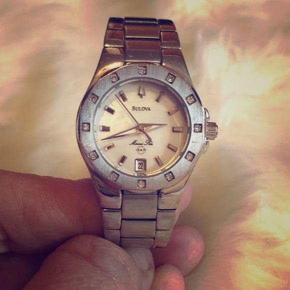 80472743e9a Bulova Jewelry - Bulova women s stainless watch MOP dial